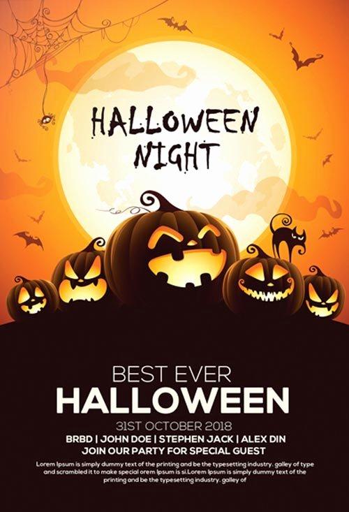 60 Premium & Free Psd Halloween Flyer Templates