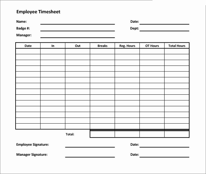 60 Sample Timesheet Templates Pdf Doc Excel