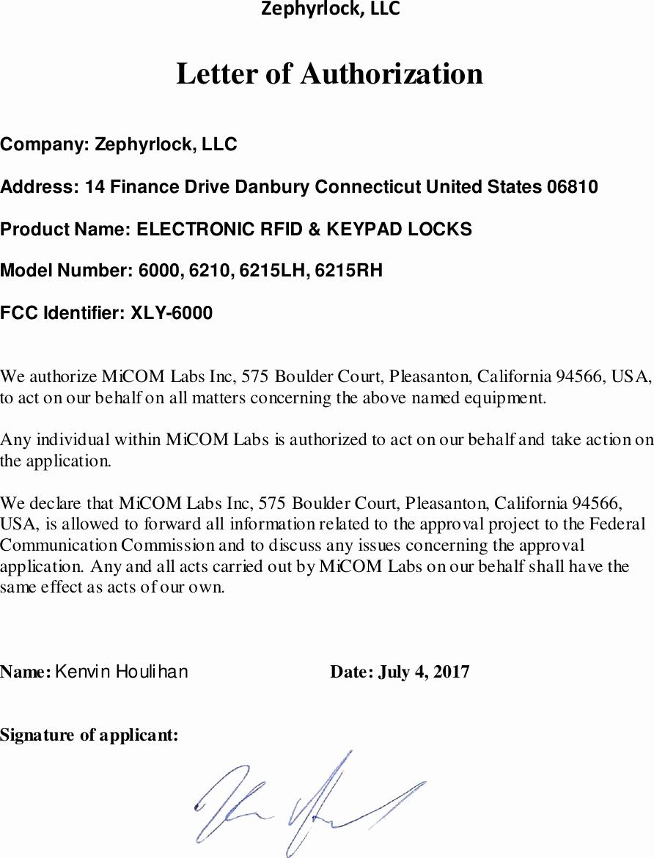 6000 Electronic Rfid & Keypad Locks Cover Letter Please