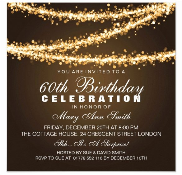 60th Birthday Invitation Cards Design 101 Birthdays