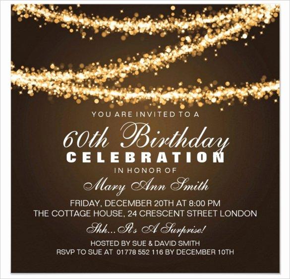 60th Birthday Invitation Cards Design 101 Birthdays