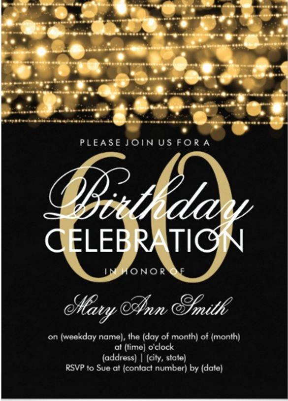 60th Birthday Invitation Template – 19 Free Psd Vector