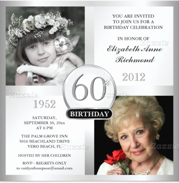 60th Birthday Invitation Templates – 24 Free Psd Vector