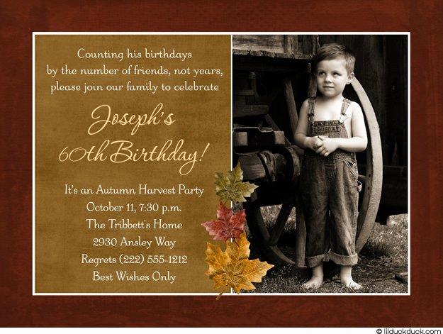 60th Birthday Invitations for Men – Bagvania Free