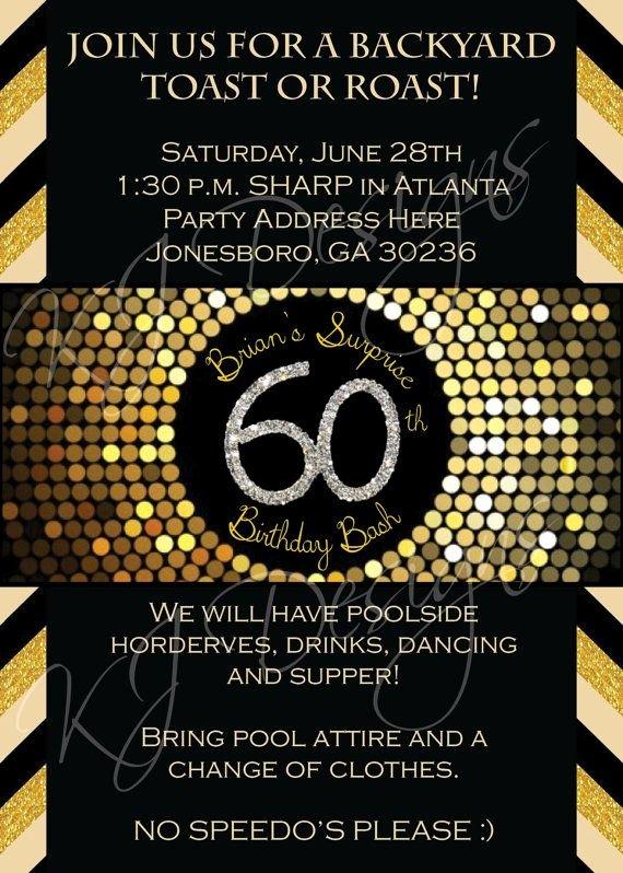 60th Birthday Invitations Template — Birthday Invitation