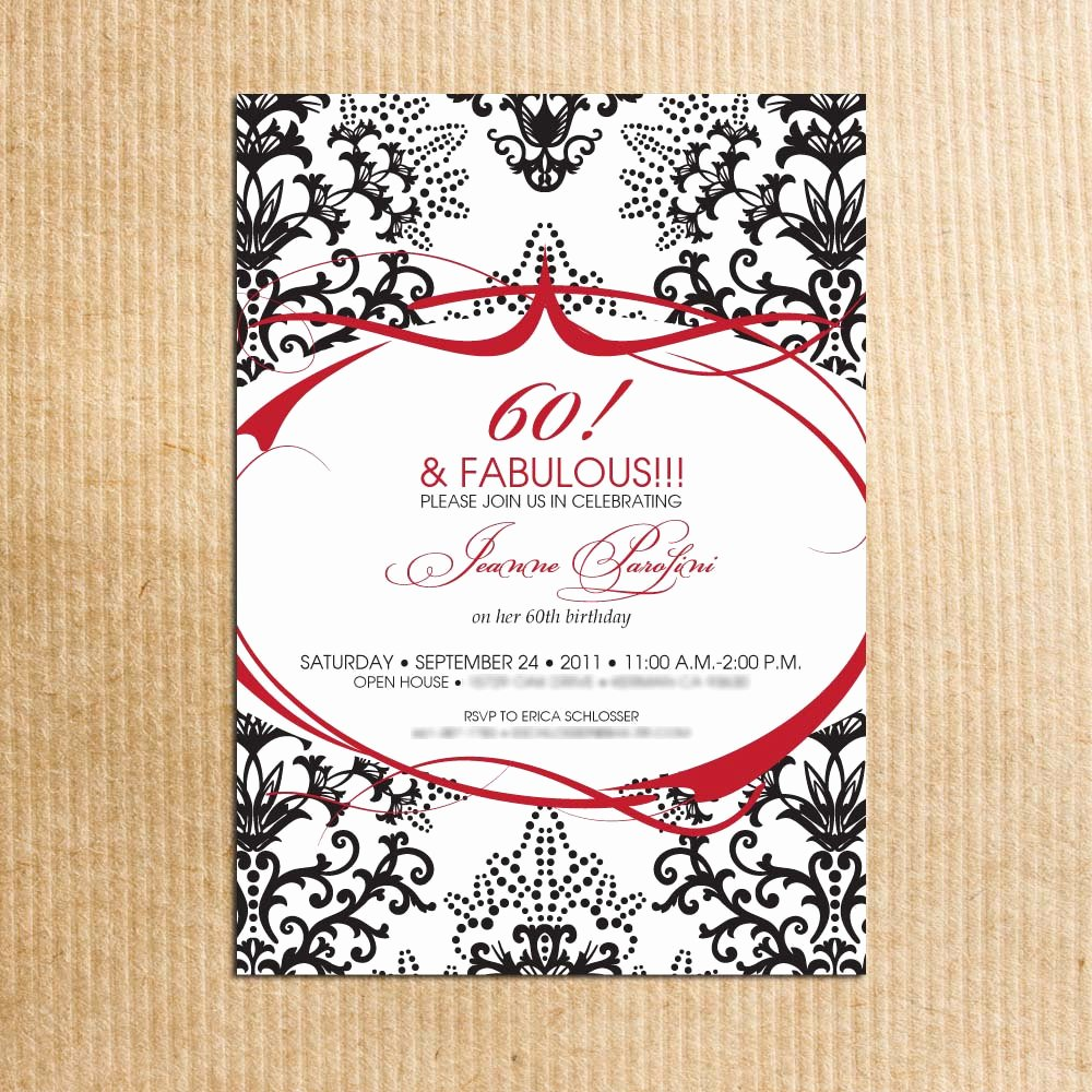 60th Birthday Invitations Templates