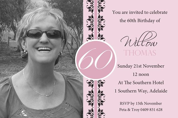 60th Birthday Invites – Bagvania Free Printable Invitation