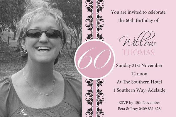 60th birthday invites