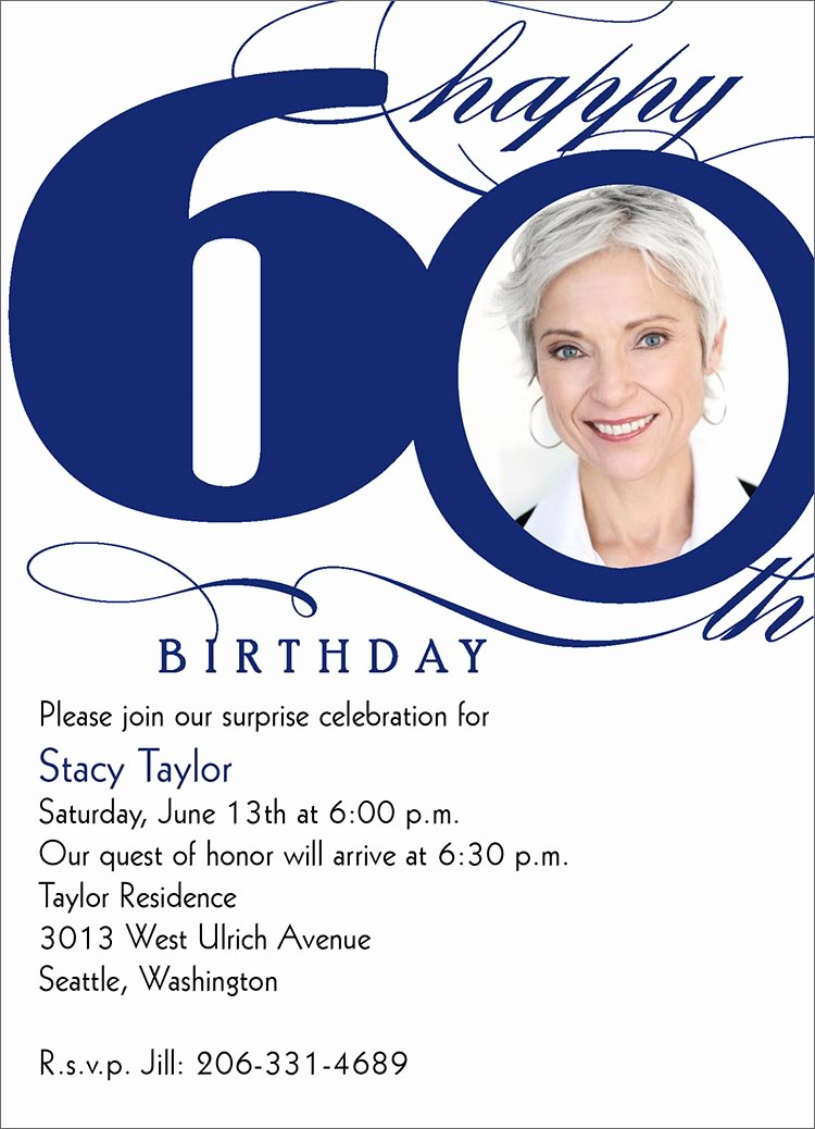 Free 60th Birthday Invitations Template | Latter Example