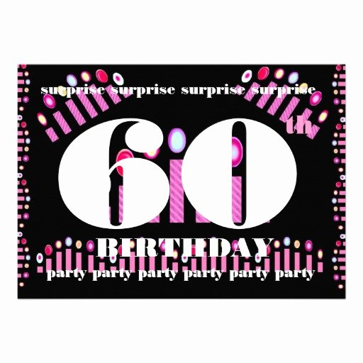 60th Surprise Birthday Party Invitation Template 13 Cm X