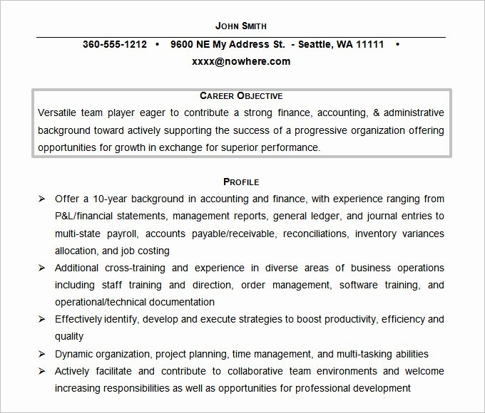 61 Resume Objectives Pdf Doc
