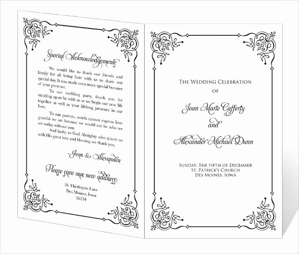 67 Wedding Program Template Free Word Pdf Psd