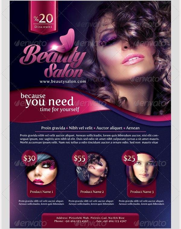 69 Best 66 Beauty Salon Flyer Templates Images On