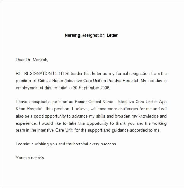 69 Resignation Letter Template Word Pdf Ipages