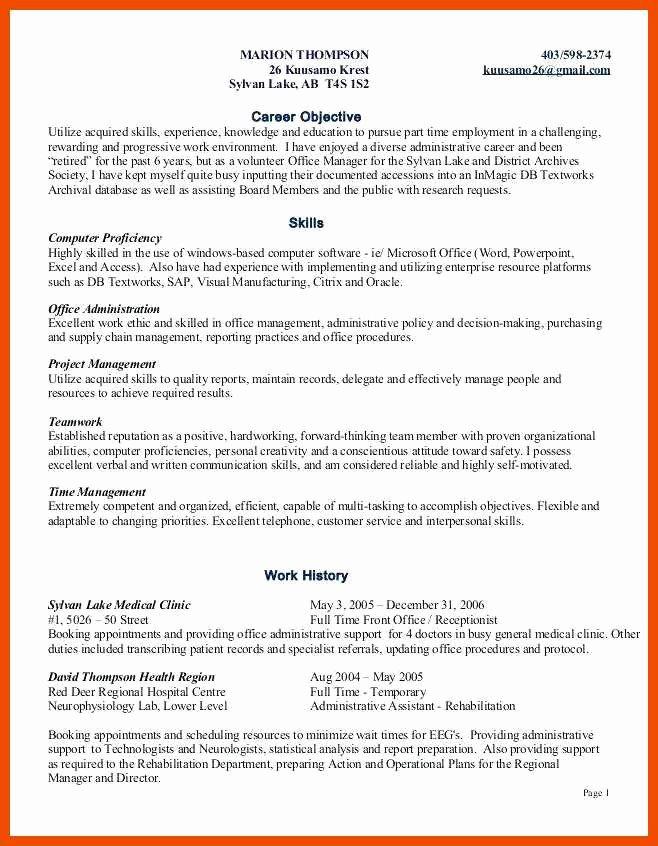 7 8 Skills Based Resume