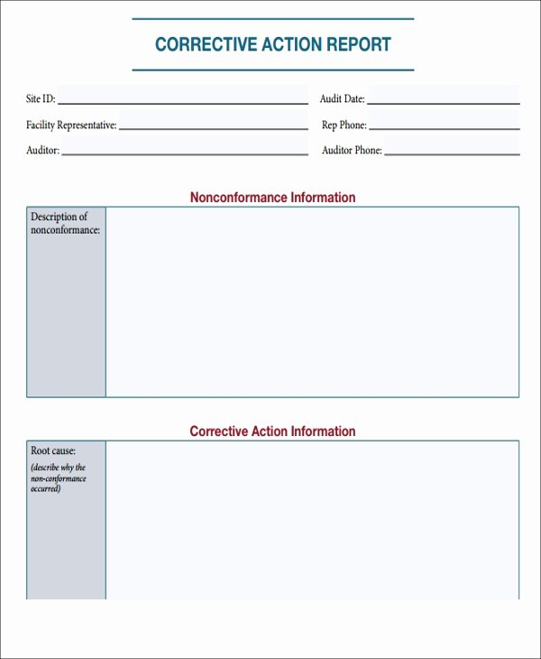 7 Action Report Templates Free Sample Example format