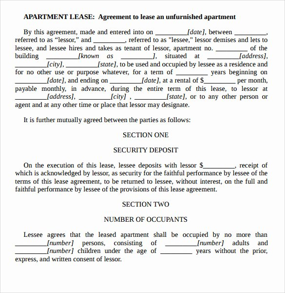 7 Apartment Rental Agreement Templates