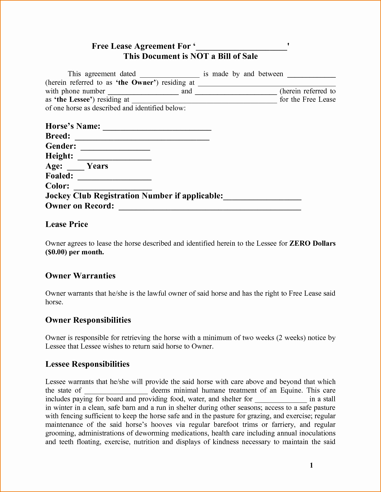 7 Basic Lease Agreement Template