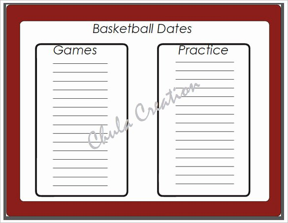 7 Basketball Schedule Templates & Samples Doc Pdf Psd