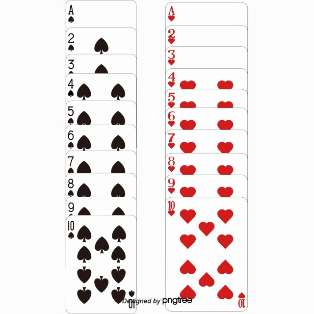 7 Beautiful Playing Cards Templates Beautiful Vector