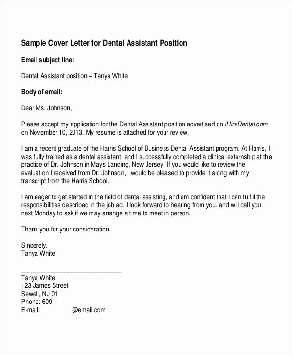 3 4 Dental Assistant Cover Letter Samples Latter Example