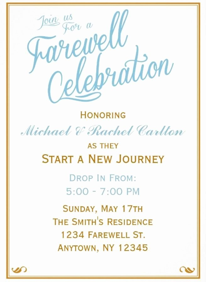 7 Best Farewell Invitation Images On Pinterest