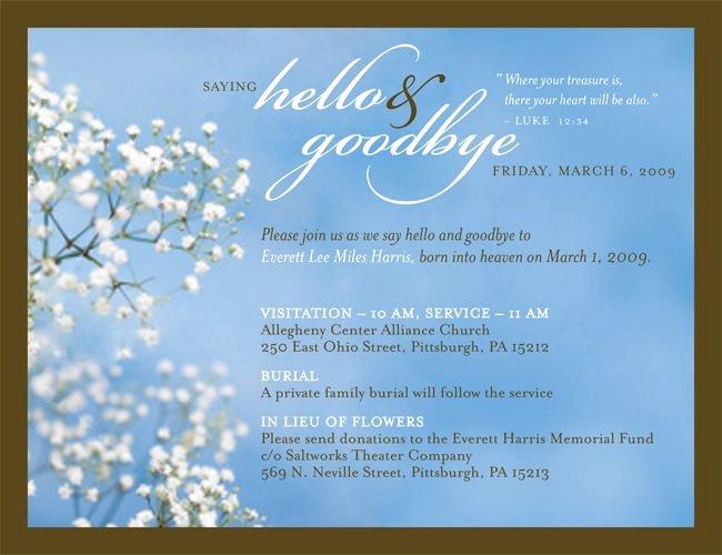 joanna memorial invitation
