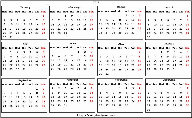 7 Best Of 2016 Pocket Calendar Free Printable