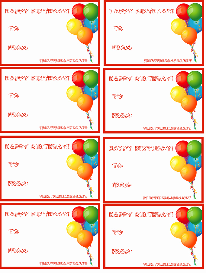 graphic relating to Birthday Tag Printable identify 7 Excellent Of Birthday Reward Tag Printable Template Latter