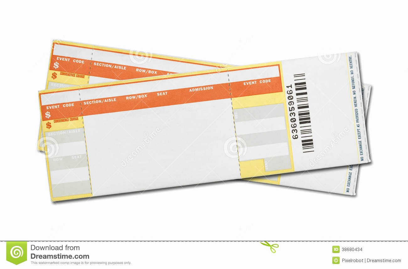 7 Best Of Blank Concert Ticket Template Printable