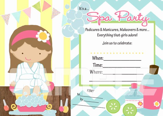 7 Best Of Blank Printable Spa Invitations 9 Year