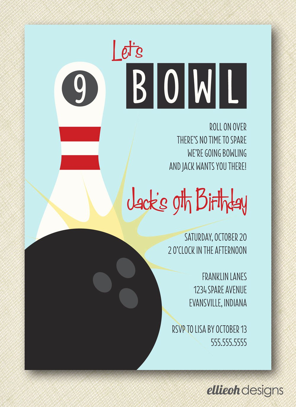 7 Best Of Bowling Party Invitations Printable