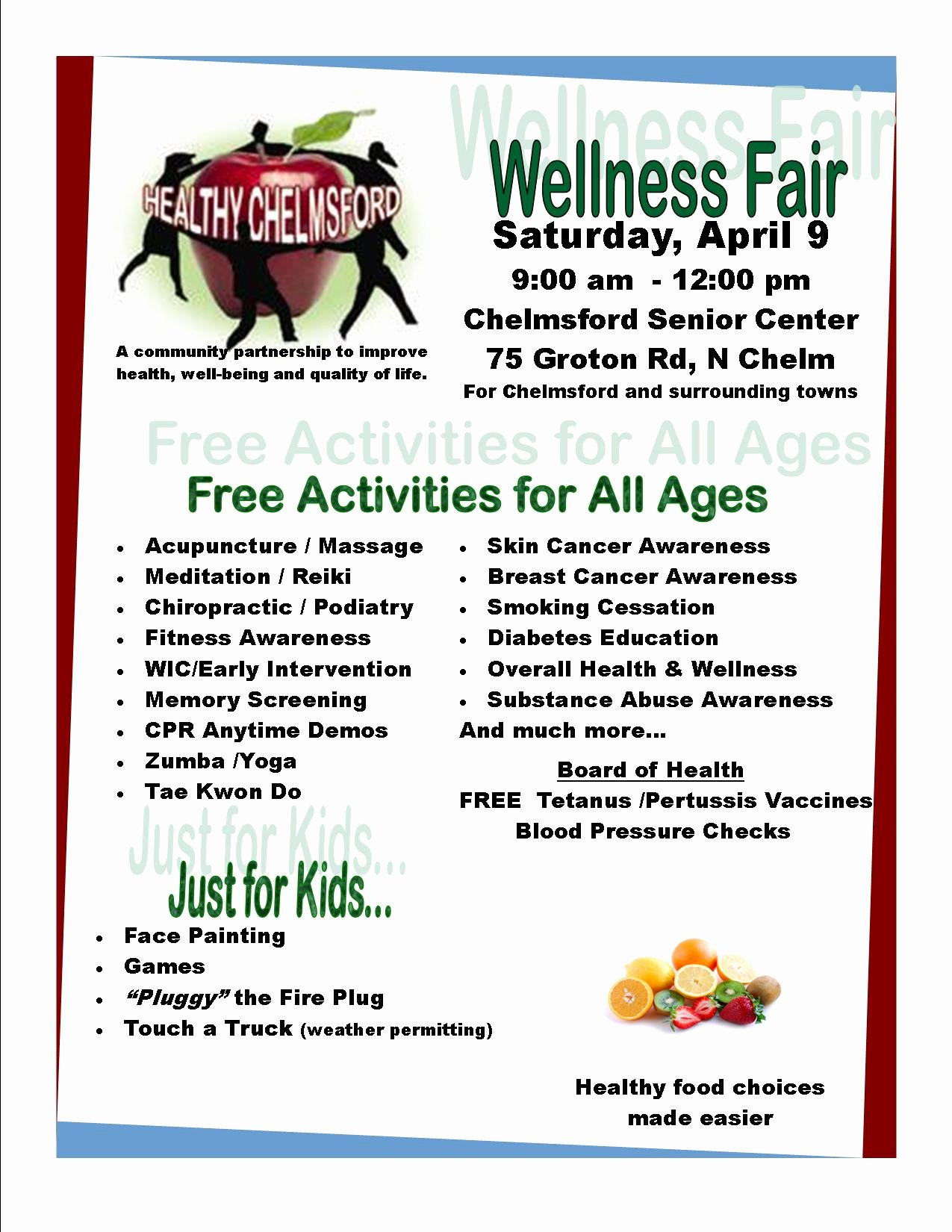 7 Best Of Church Health Fair Flyer Free Munity
