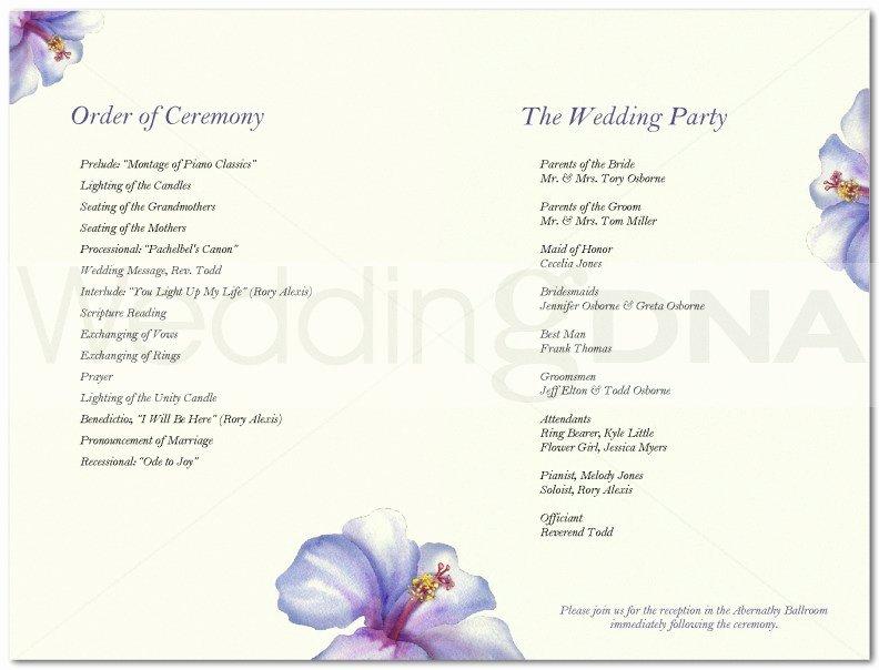 7 Best Of Church Wedding Program Templates Sample