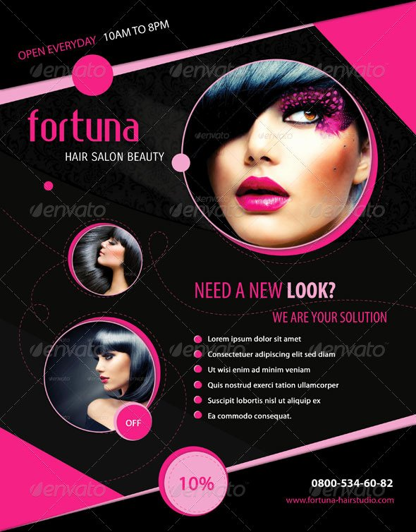 7 Best Of Cosmetology Salon Flyers Beauty Salon