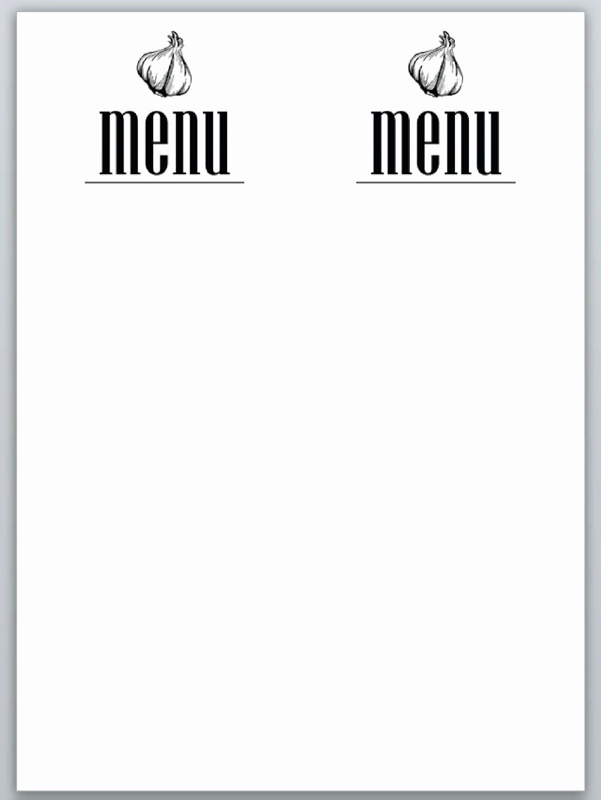 7 Best Of Dinner Party Menu Templates Free