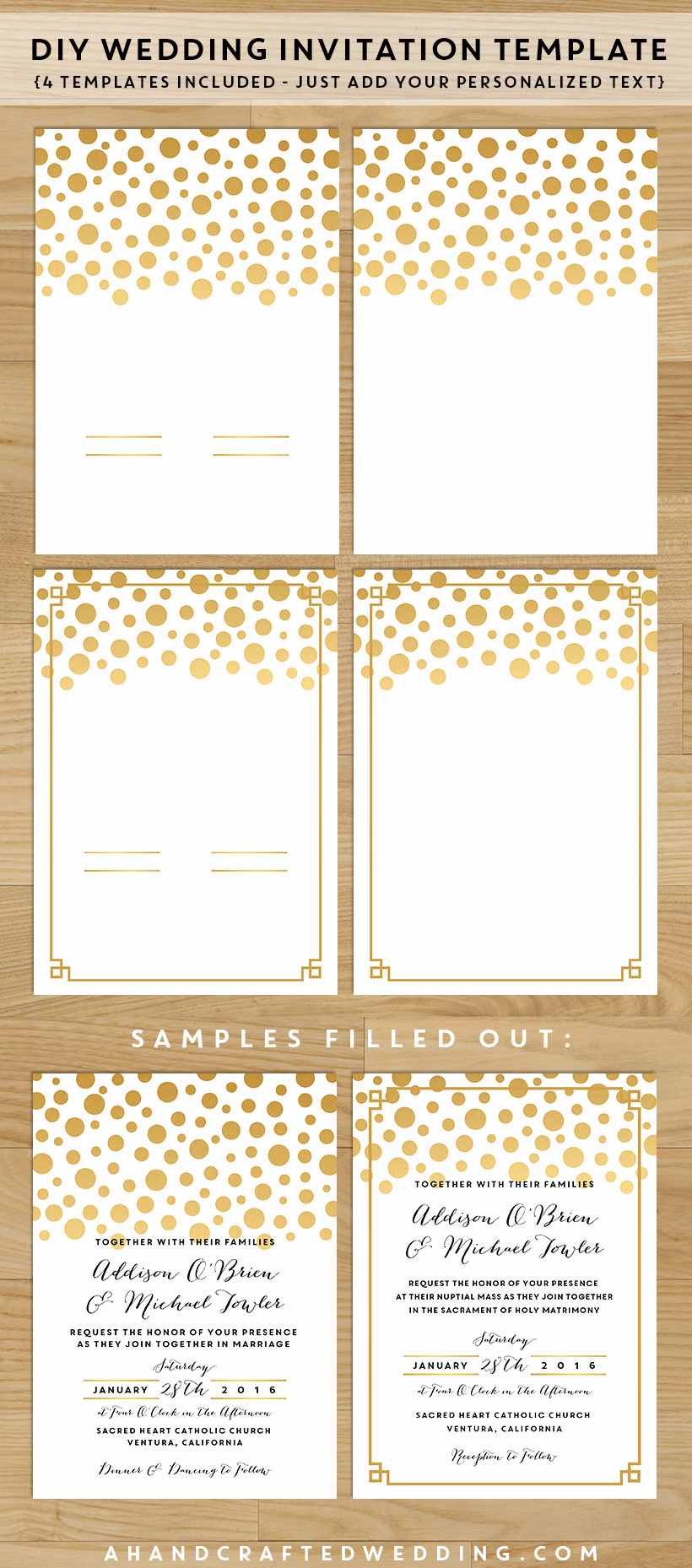 7 Best Of Diy Printable Wedding Invitation