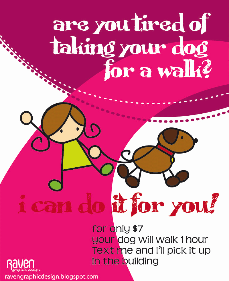 7 Best Of Dog Walking Flyers Printable Dog