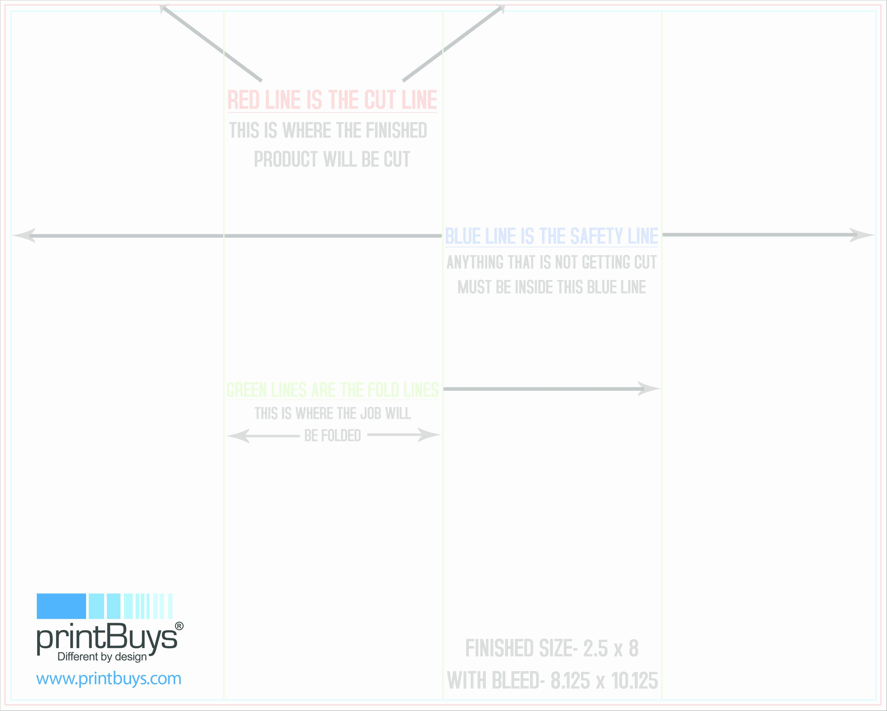 post double fold brochure template