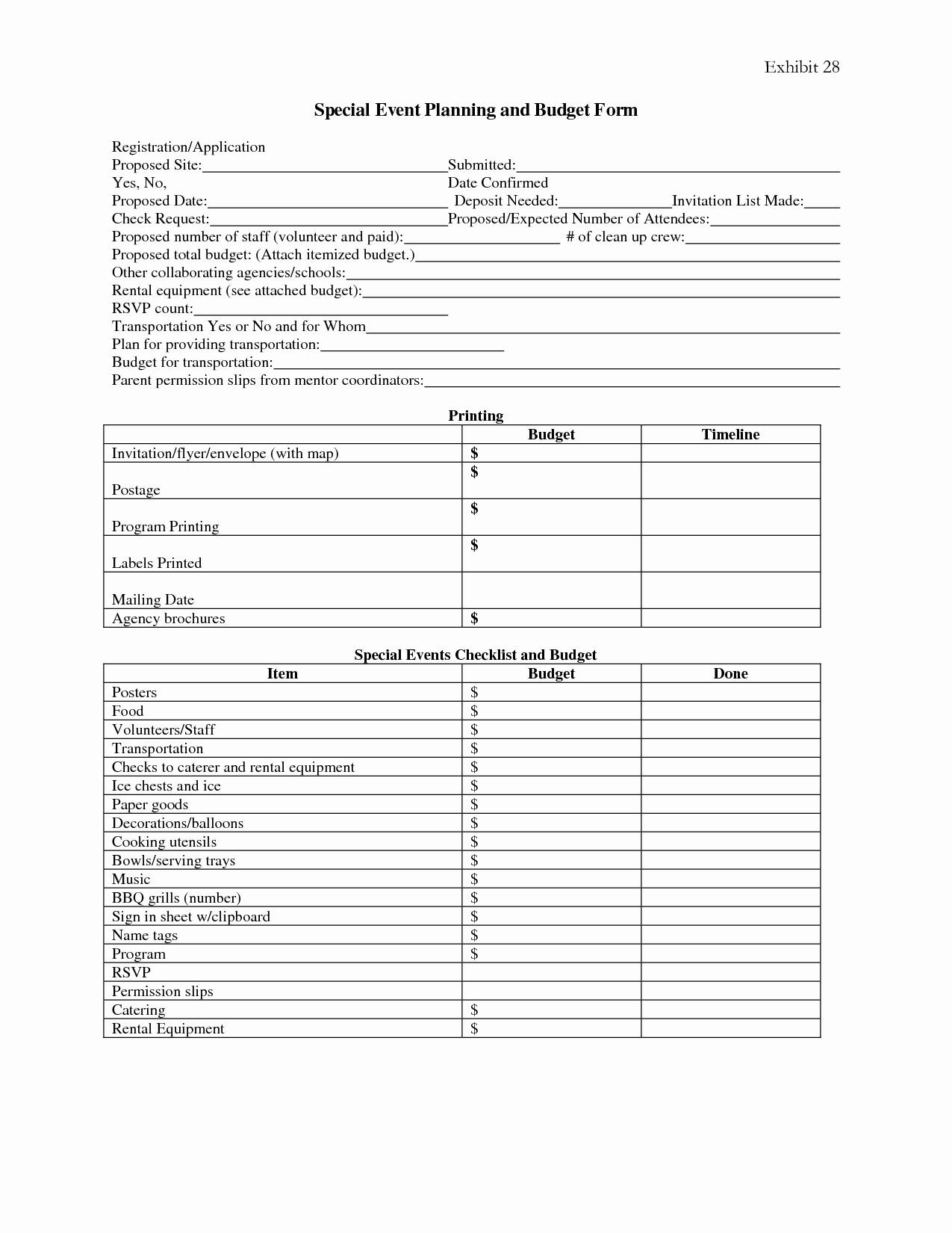 7 Best Of event Planning forms Free Printable