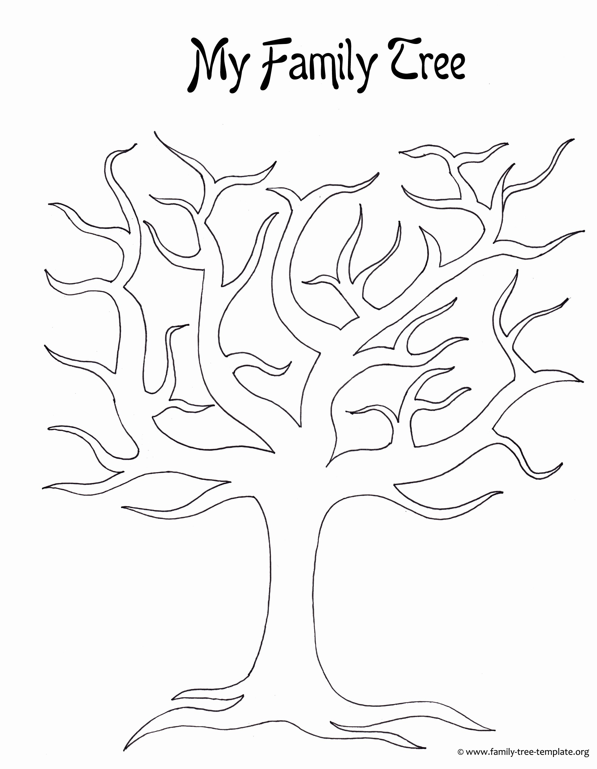 7 Best Of Family Tree Outline Printable Printable