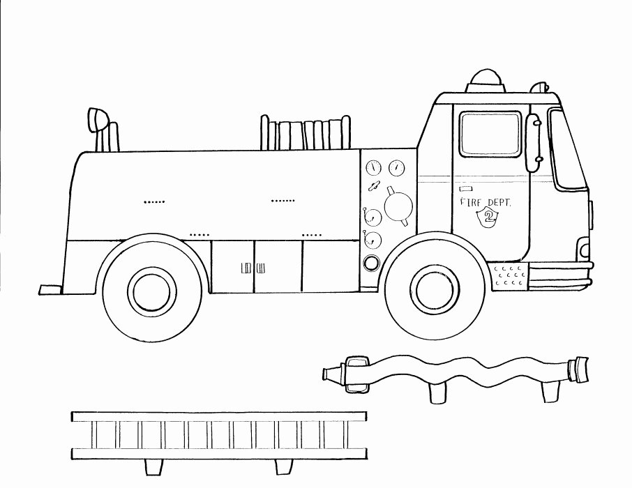 7 Best Of Fire Truck Template Printable Fire
