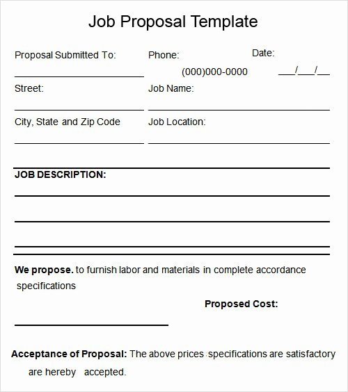 7 Best Of Free Job Proposal Template Word Free