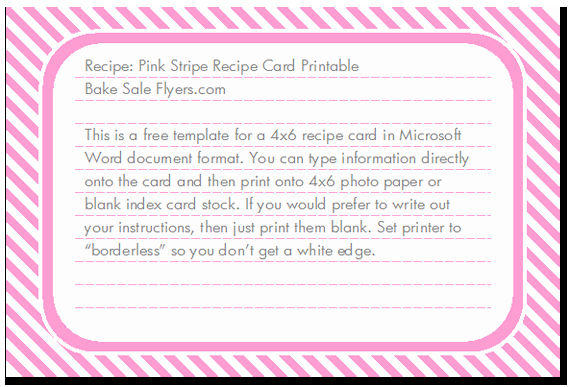 7 Best Of Free Printable 4x6 Recipe Card Templates