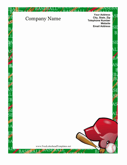 7 Best Of Free Printable Baseball Templates Free