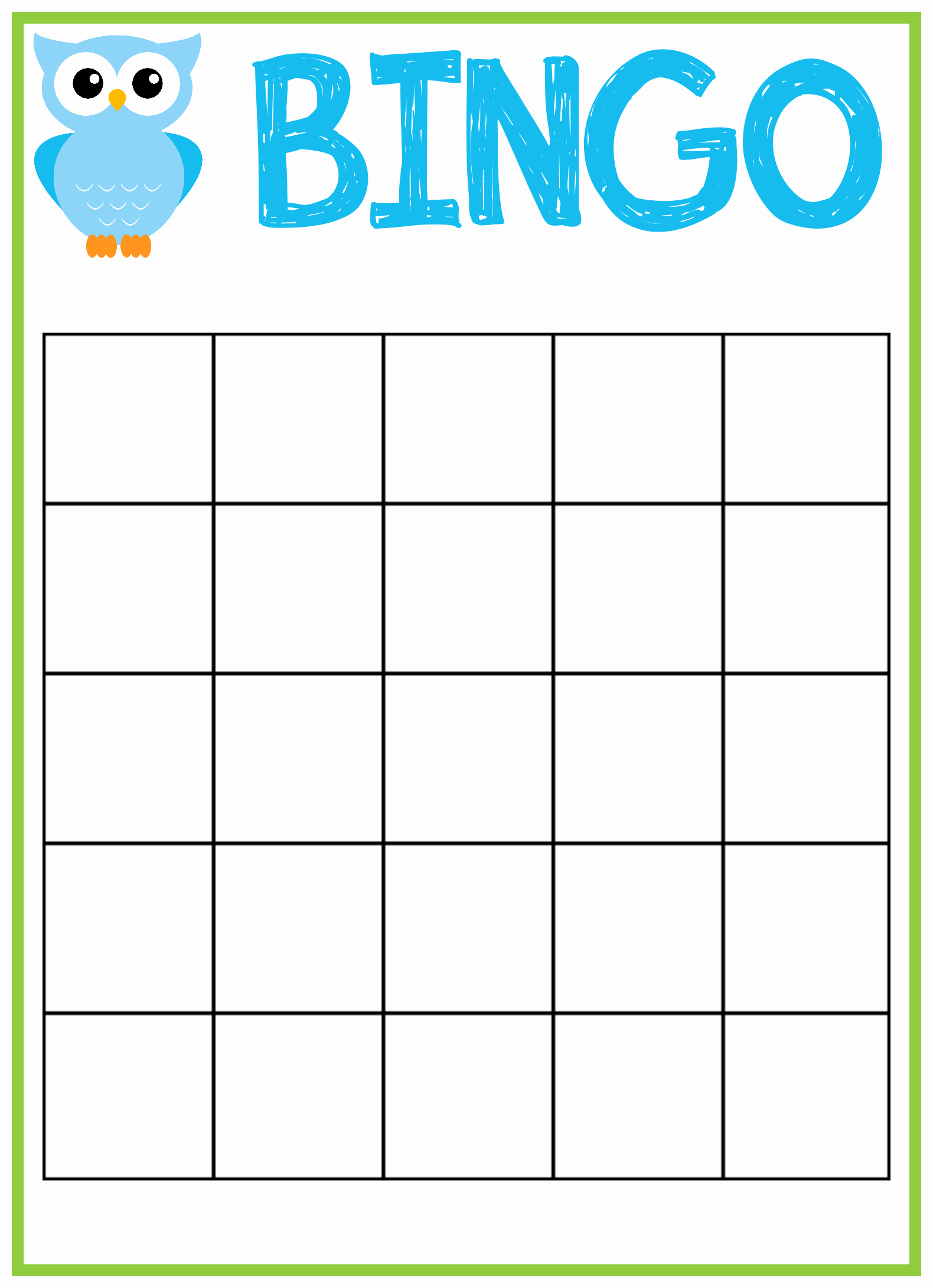 7 Best Of Free Printable Bingo Card Template Free