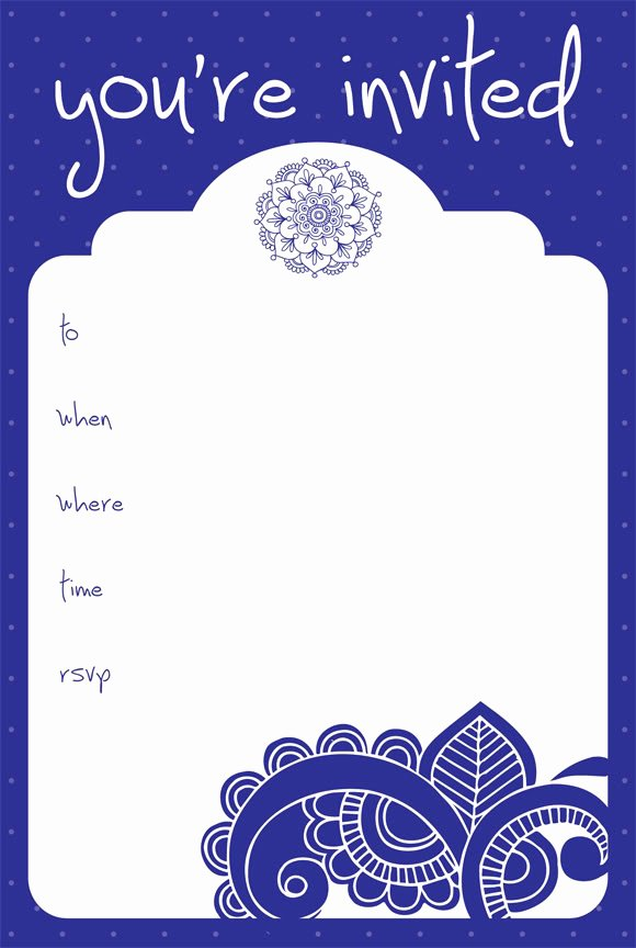 7 Best Of Free Printable Blank Invitation Cards