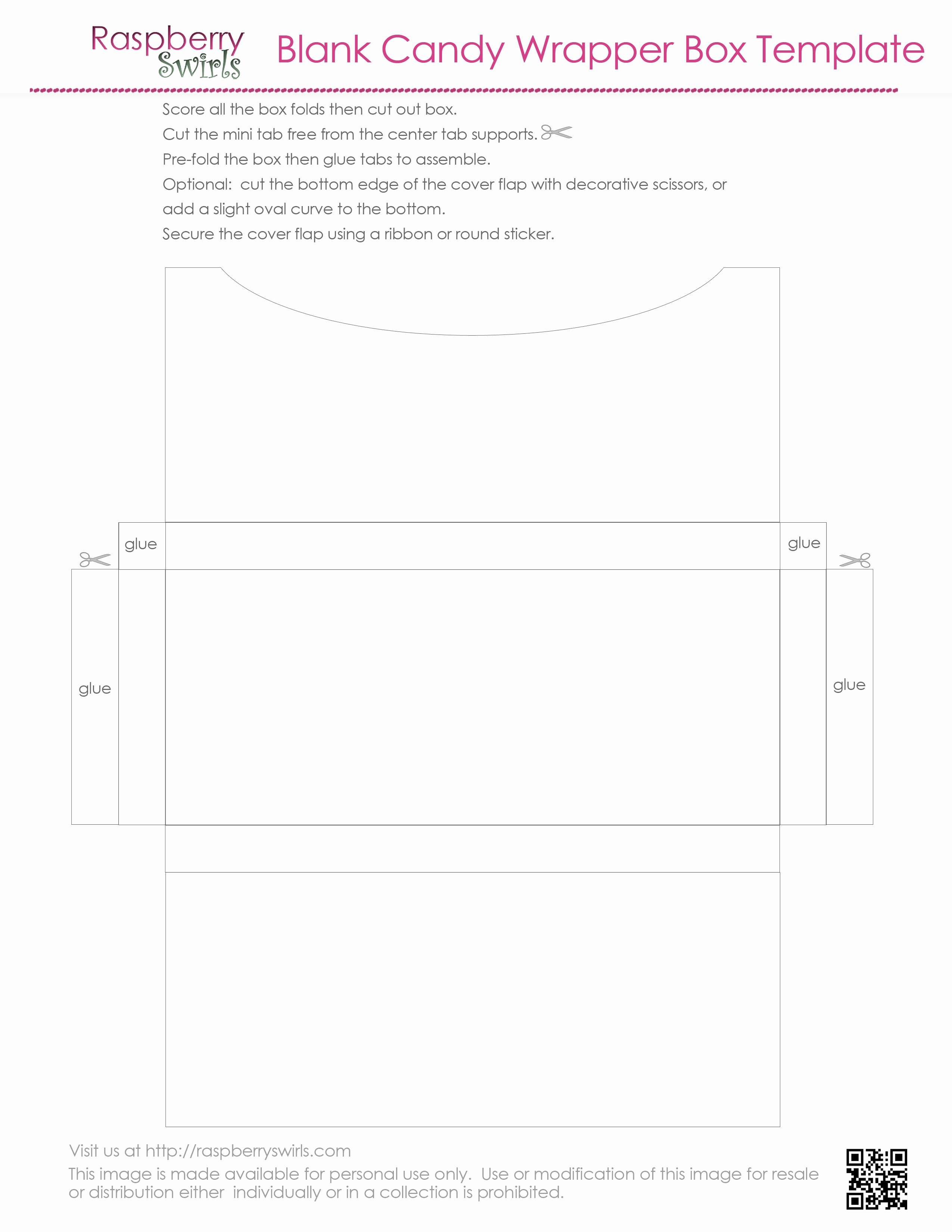 7 Best Of Free Printable Candy Box Templates Free