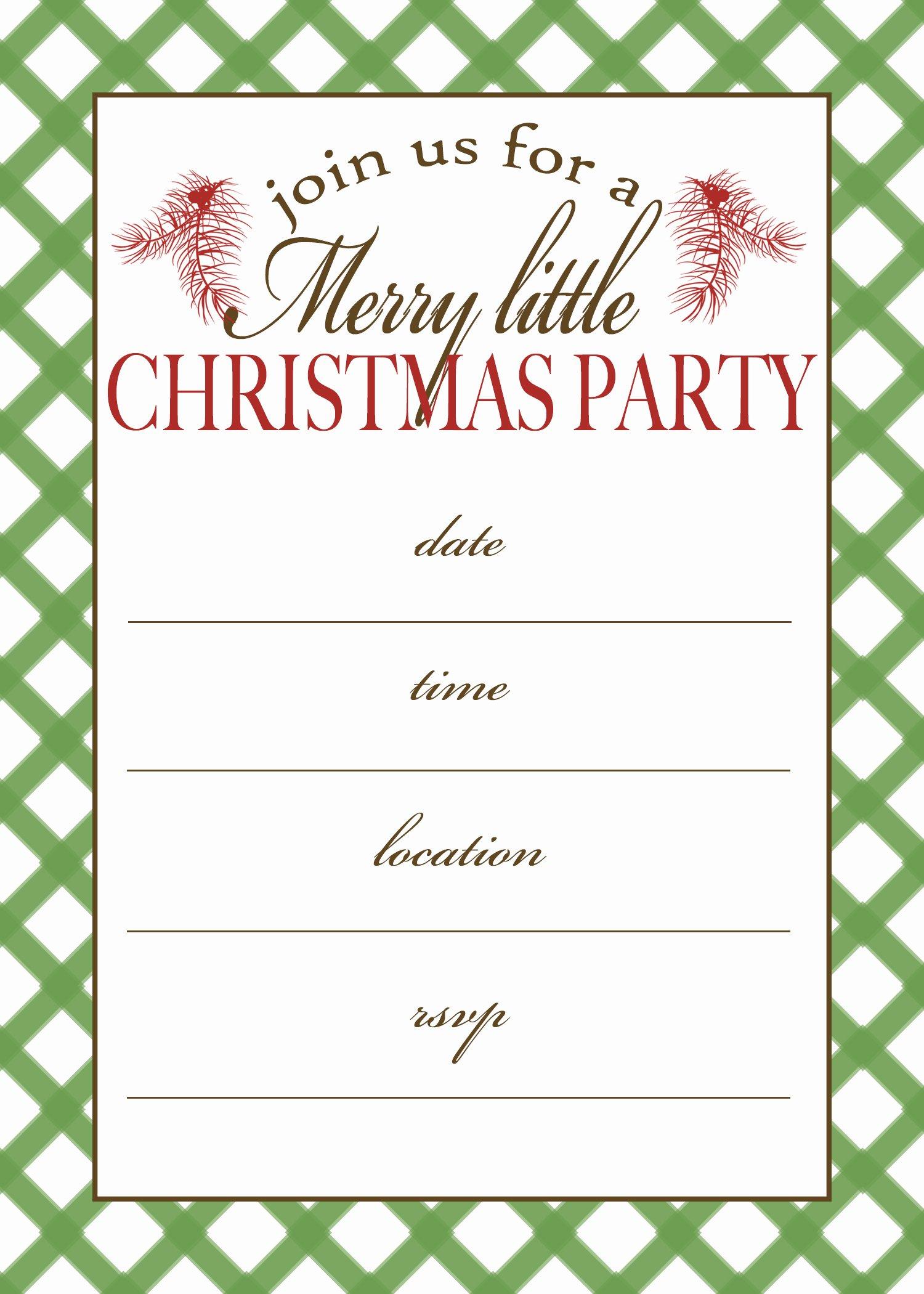 7 Best Of Free Printable Christmas Invitation