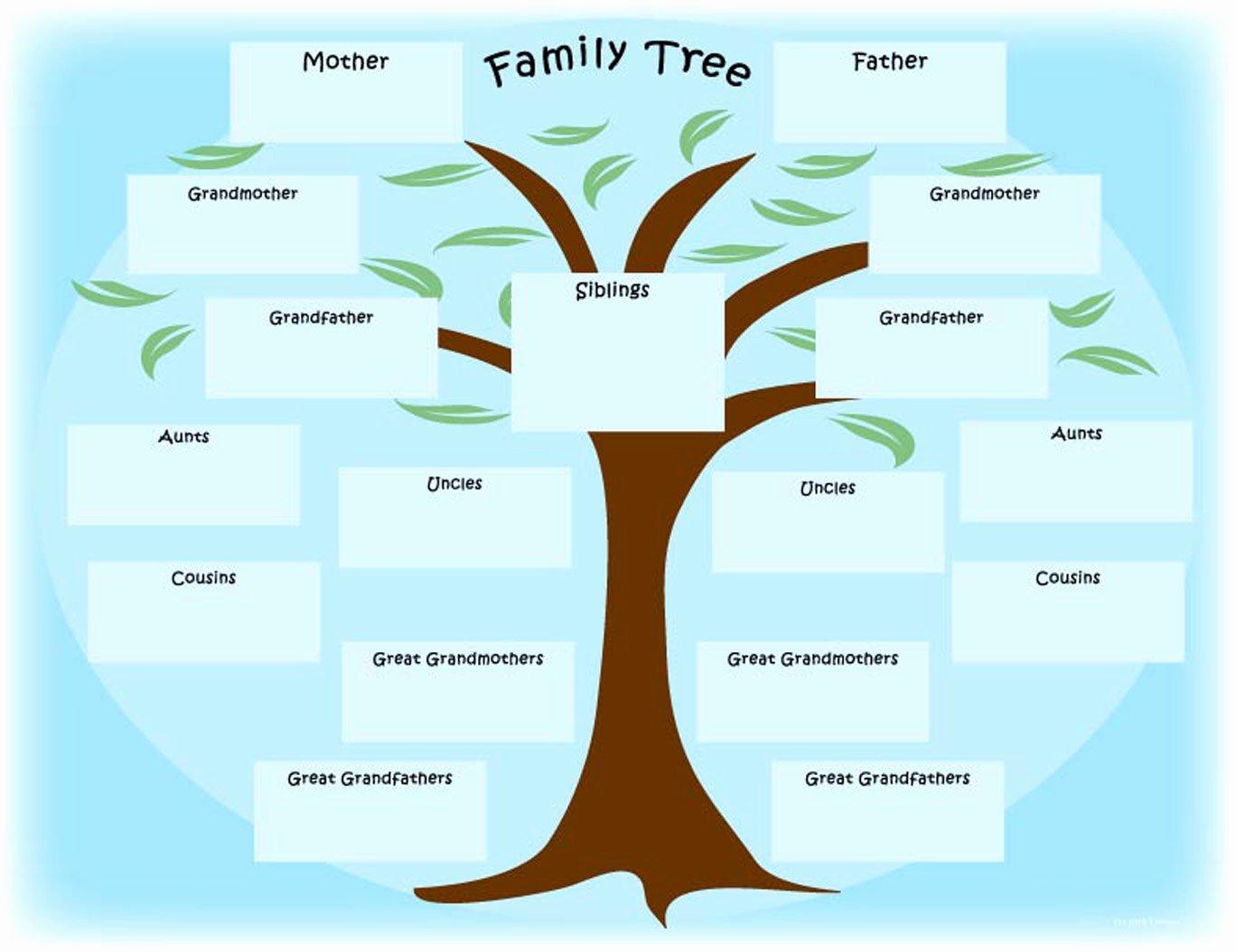 7 Best Of Free Printable Family Tree Printable
